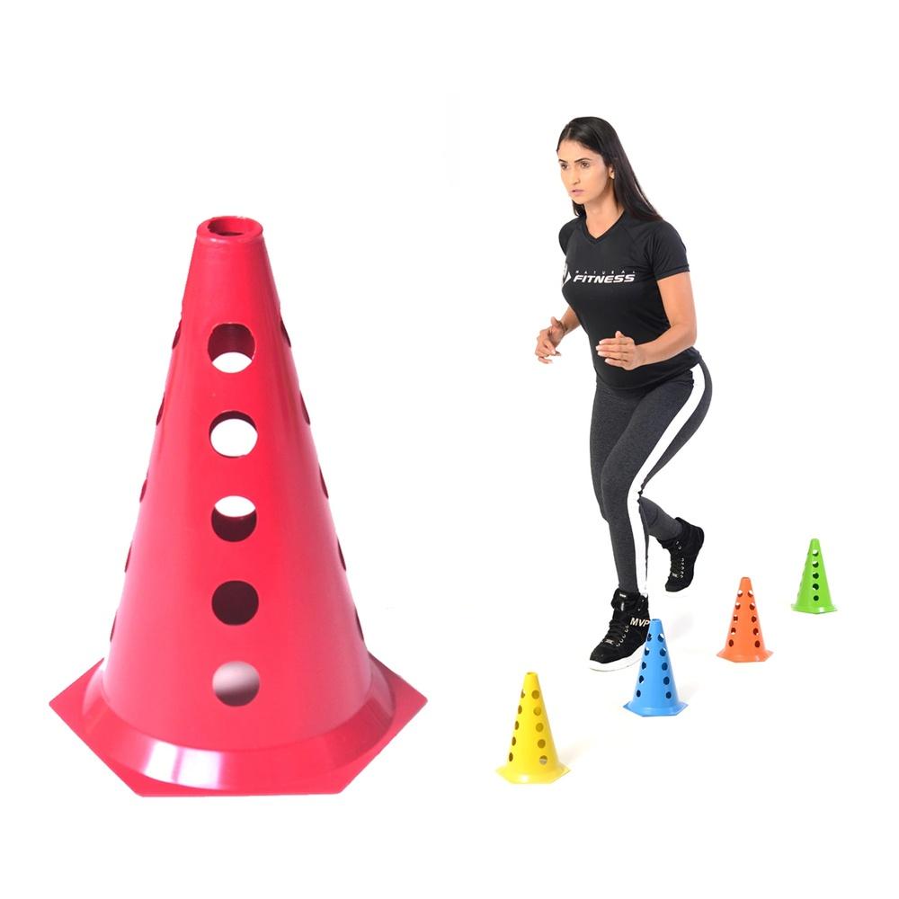 Cone com Furo Colorido para Barreira ou Circuito