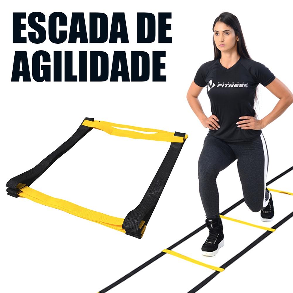 Escada de Agilidade Nylon Natural Fitness