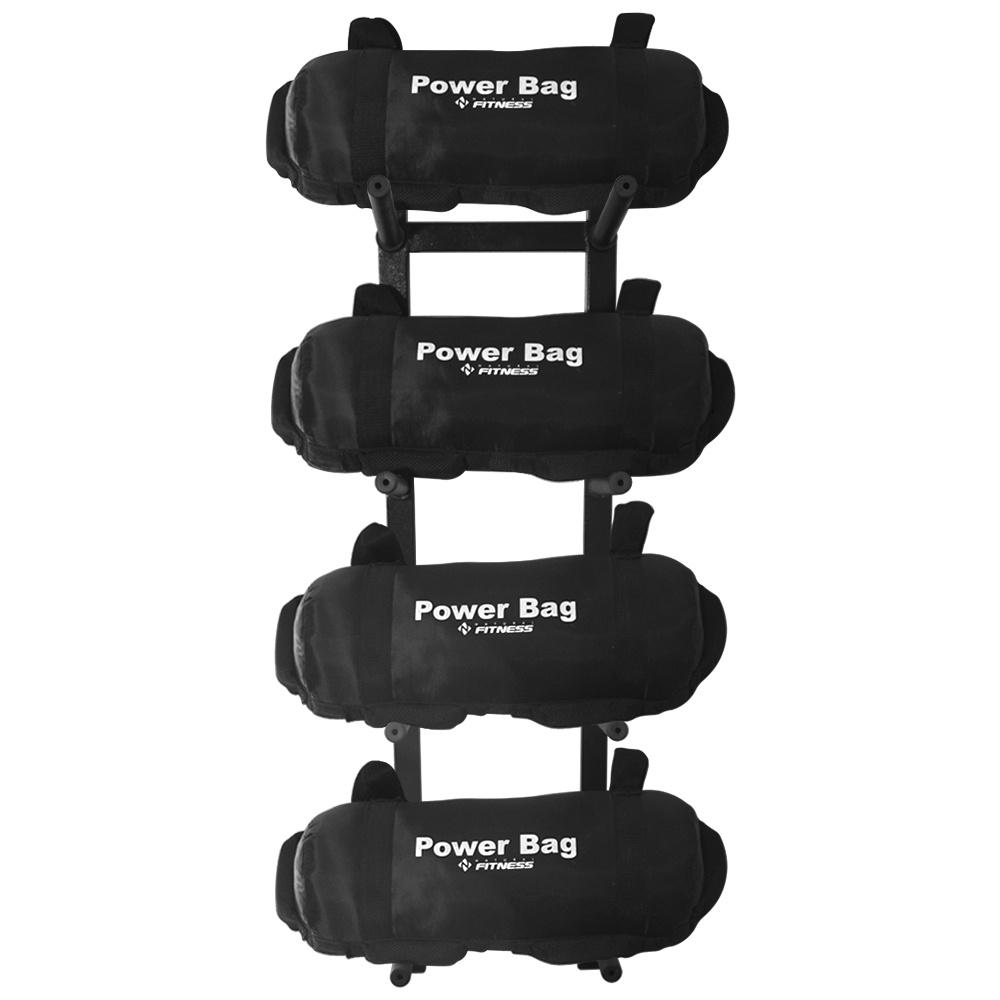 Suporte + Kit 4 Power Bag 20kg Para Academia Funcional
