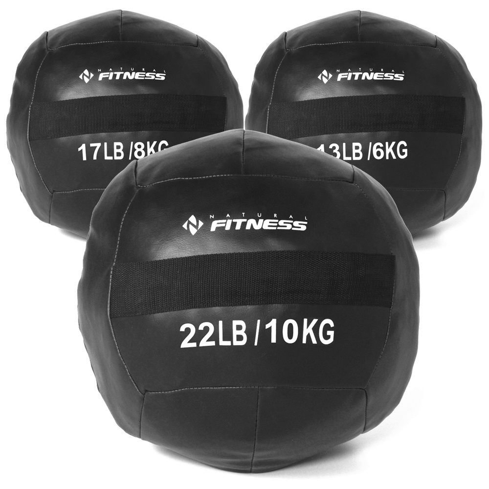 Kit Wall Ball 6kg - 8kg - 10kg Natural Fitness