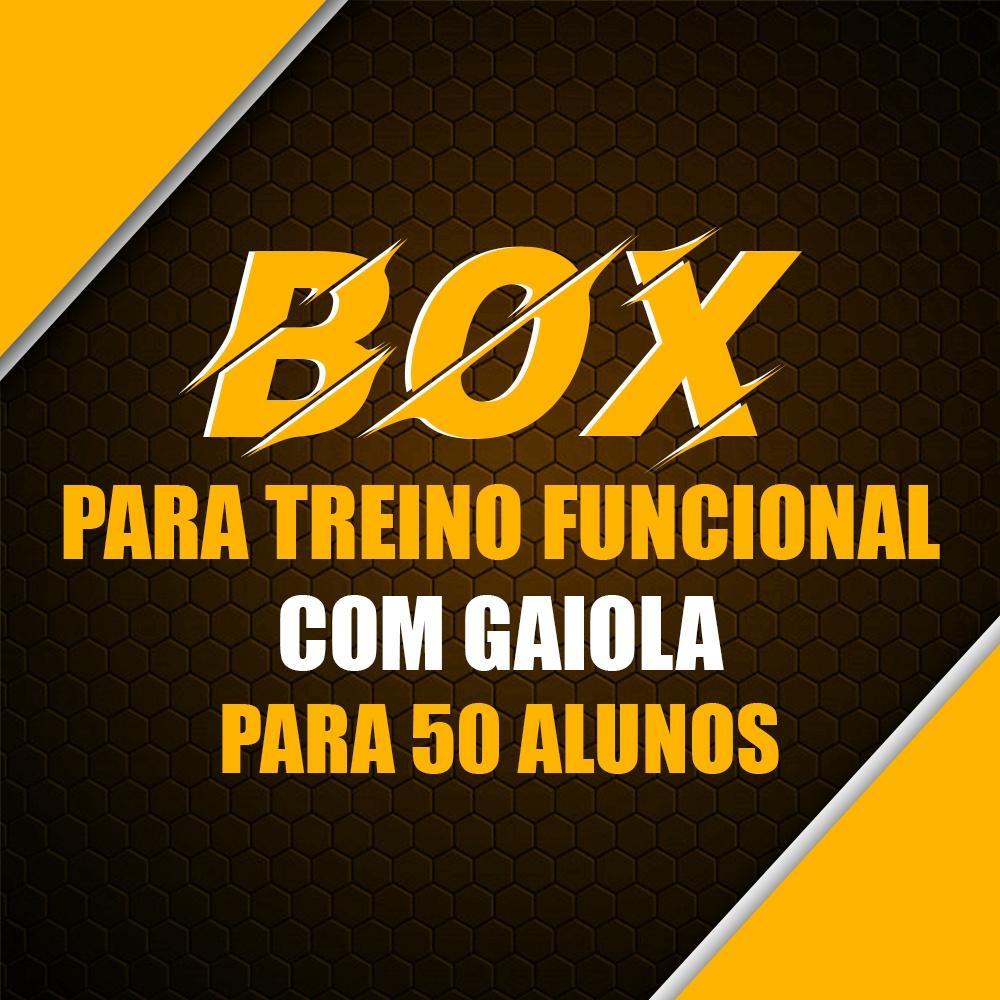 Box Academia Para Treino Funcional e Crossfit Com Gaiola Para 50 Alunos