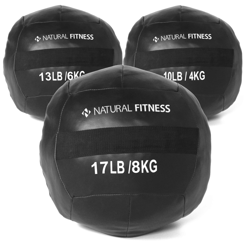 Kit Wall Ball 4kg - 6kg - 8kg Natural Fitness