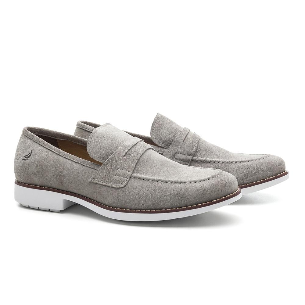 Sapato Masculino Loafer Cinza Crissy Field