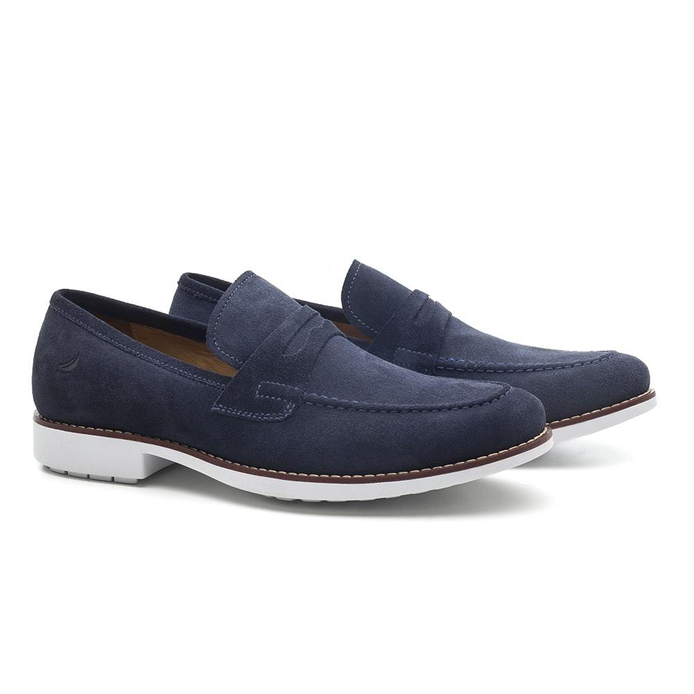 Sapato Masculino Loafer Azul Carmel