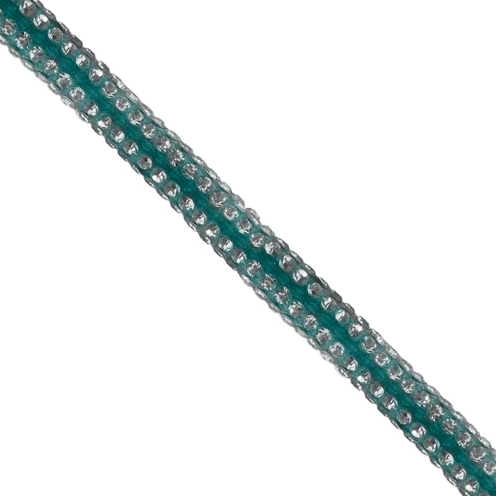 Cordão Spring 0,5cm Pedra Níquel - Azul - 20563 - BMSTRASS