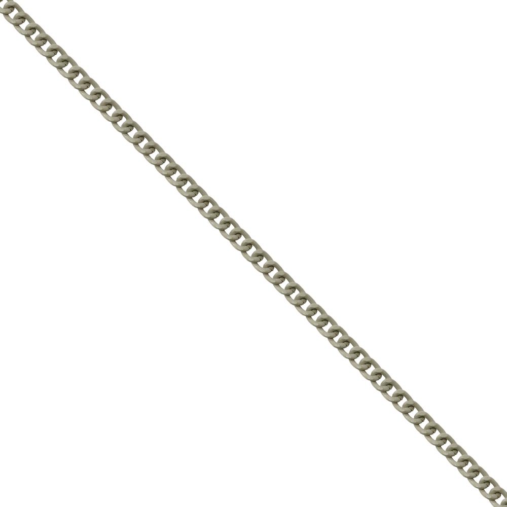 Corrente De Elo 7mm Alumínio - Banho Off White - 1... - BMSTRASS