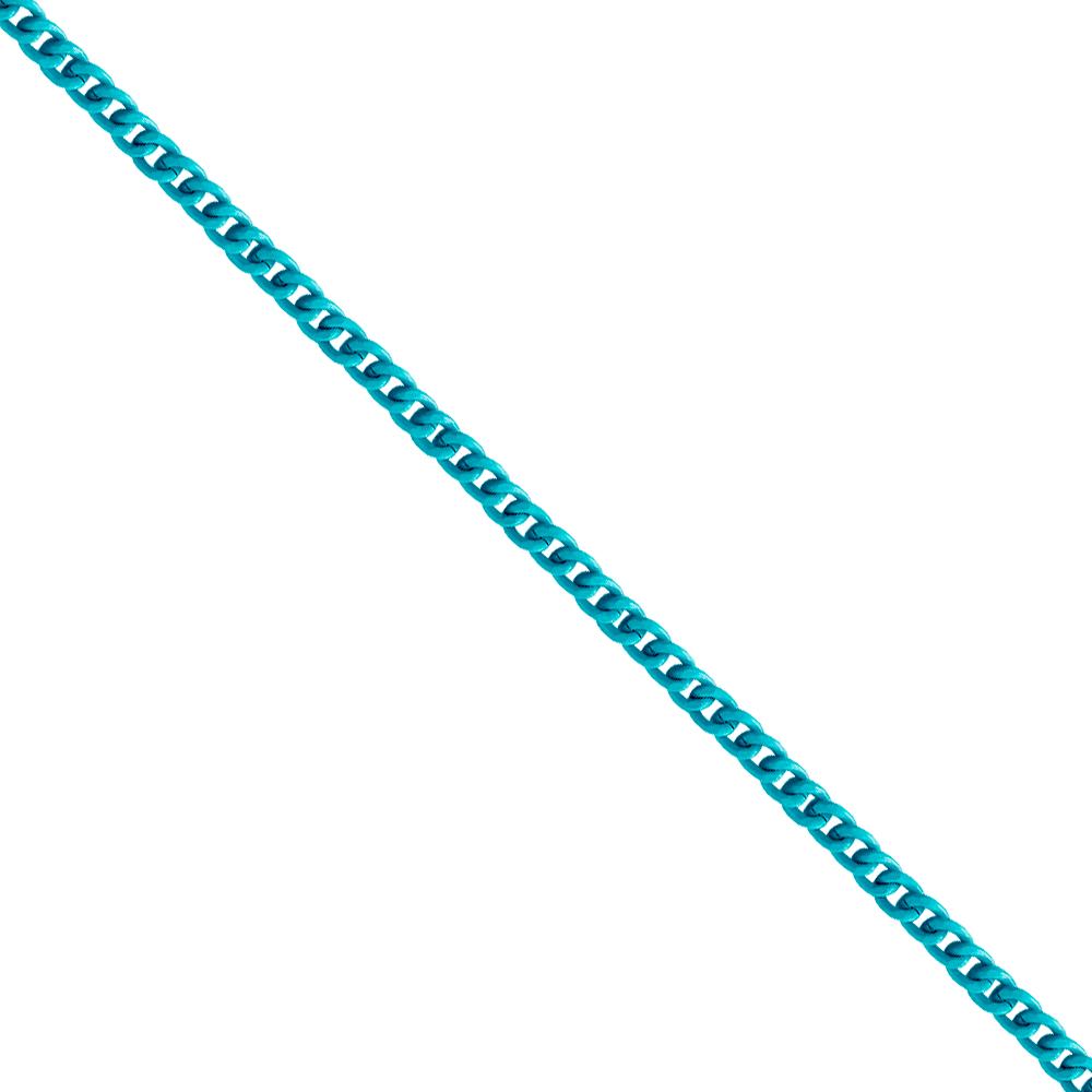 Corrente De Elo 7mm Alumínio - Banho Azul Bebê - 1... - BMSTRASS