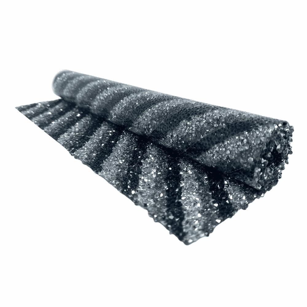 Manta De Strass Rivoli Line 24x40cm - Black Diamon... - BMSTRASS