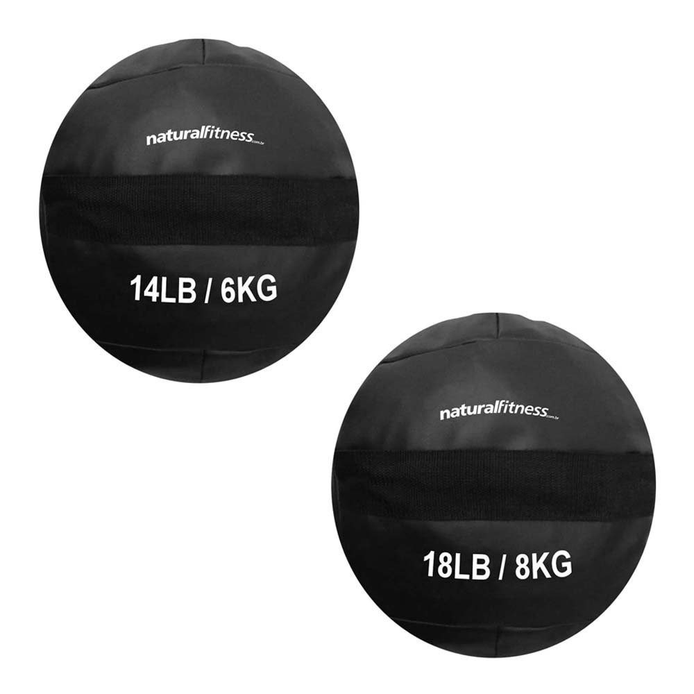 Kit Wall Ball 6kg - 8kg Natural Fitness