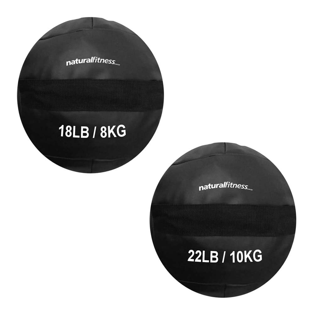 Kit Wall Ball 8kg - 10kg Natural Fitness