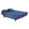 Estofado Damasu Napoli 1,85M Retrátil Sofá Cama 4 lugares Suede Azul Marinho