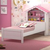 Cama Solteiro Infantil Basoto Princesa Branca/Rosa