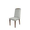 Conjunto de Jantar Mesa Bennet 1.60 com 6 cadeiras daisy Off White / Cinza