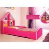 Cama Solteiro Infantil Gelius Casinha com 4 Divisorias e Adesivo Decorativo Rosa Pink