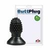 Mini Plug Formato de Framboesa 6x12cm (PLUG13) - Preto
