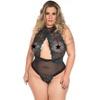 *body Luxúria Plus Size (ps2056) - Verde Com Preto