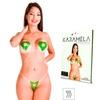 Tapa-Sexo Comestível Karamela Formato Coração (ST594) - Menta