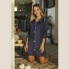 Chemise Homewear c/ botões Marinho
