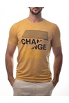 Camiseta Estampa Change Amarela Brusman