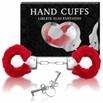Algema Com Pelucia Hand Cuffs (AL001 - ST192) - Vermelho