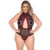 *Body Luxúria Plus Size (PS2056) - Vermelho C/ Preto