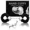 Algema Com Pelucia Hand Cuffs (AL001-ST192) - Preto