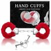 Algema Com Pelucia Hand Cuffs (AL001-ST192) - Vermelho
