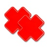 Tapa Mamilo Em X 50 Tons (TO0014 - ST661) - Vermelho