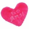 Estojo em Pelúcia Formato de Coração (CP01 - CP02) - Rosa