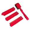 Kit Bondagem 4 Amarra em Couro Sintético (KB4C) - Vermelho