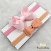 Kit Faixa para bebê Duplo Boutique Rosa