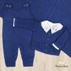 Saída De Maternidade Miguel Azul Jeans
