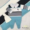 Saída De Maternidade Cavalinho Azul Piscina