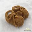Sapatinho De Tricot Laço Mostarda