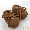 Sapatinho De Tricot Laço Cobre