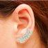 Brinco Ear Cuff Zircônia Lesprit LB14321WCL Ródio Cristal