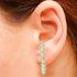 Brinco Ear Hook Pérola Lesprit 37603/03 Dourado