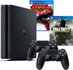 Console PS4 Slim 1TB Com 2 Controles + God Of War 3 Remasterizado + Call Of Duty