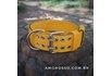 Coleira Amorosso® Tradicional (amarelo e preto)