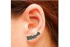 Brinco Ear Cuff Zircônia Lesprit LB14741BOBK Ródio Negro Preto