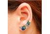 Brinco Ear Cuff Zircônia Lesprit LB14321MIXRS Rosé Multicor