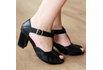 Sapato Peep Toe Preto- 900-03