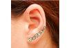 Brinco Ear Cuff Zircônia Lesprit LB13731MORRS Rosé Morganita