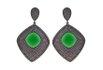 Brinco Zircônia Lesprit LB05251 Ródio Negro Verde e Ametista