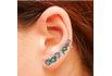 Brinco Ear Cuff Zircônia Lesprit LB13731MIXCL Ródio Multicor