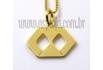 Pingente de Ouro 18k Símbolo de Formatura Administração