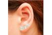 Brinco Ear Cuff Zircônia Lesprit LB14741WGL Dourado Cristal