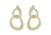 Brinco Zircônia Lesprit LB20221WGL Dourado Cristal