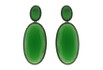 Brinco Zircônia Lesprit LB14291BONGNBK Ródio Negro Verde