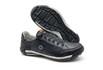 Sapatos Casual Zíper e Elástico Palmilha Ortopédica 148/02 Preto